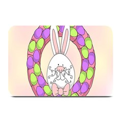 Make An Easter Egg Wreath Rabbit Face Cute Pink White Plate Mats by Mariart