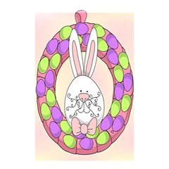 Make An Easter Egg Wreath Rabbit Face Cute Pink White Shower Curtain 48  X 72  (small)