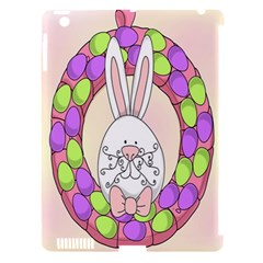 Make An Easter Egg Wreath Rabbit Face Cute Pink White Apple Ipad 3/4 Hardshell Case (compatible With Smart Cover) by Mariart
