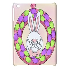 Make An Easter Egg Wreath Rabbit Face Cute Pink White Apple Ipad Mini Hardshell Case by Mariart