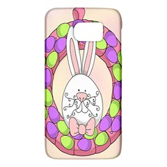 Make An Easter Egg Wreath Rabbit Face Cute Pink White Galaxy S6 by Mariart
