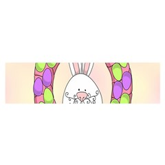 Make An Easter Egg Wreath Rabbit Face Cute Pink White Satin Scarf (oblong)