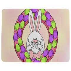 Make An Easter Egg Wreath Rabbit Face Cute Pink White Jigsaw Puzzle Photo Stand (rectangular) by Mariart