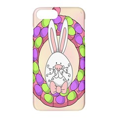 Make An Easter Egg Wreath Rabbit Face Cute Pink White Apple Iphone 7 Plus Hardshell Case by Mariart