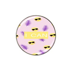 I Can Purple Face Smile Mask Tree Yellow Hat Clip Ball Marker (10 Pack) by Mariart