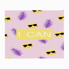 I Can Purple Face Smile Mask Tree Yellow Small Glasses Cloth (2 Side) by Mariart