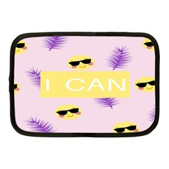 I Can Purple Face Smile Mask Tree Yellow Netbook Case (medium)  by Mariart