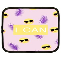 I Can Purple Face Smile Mask Tree Yellow Netbook Case (large) by Mariart