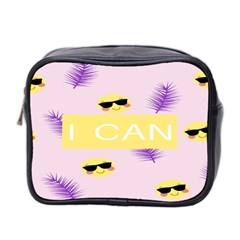 I Can Purple Face Smile Mask Tree Yellow Mini Toiletries Bag 2 Side by Mariart