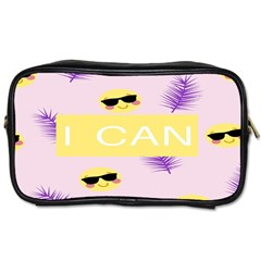 I Can Purple Face Smile Mask Tree Yellow Toiletries Bags