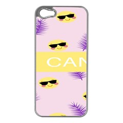 I Can Purple Face Smile Mask Tree Yellow Apple Iphone 5 Case (silver) by Mariart