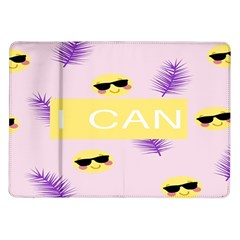 I Can Purple Face Smile Mask Tree Yellow Samsung Galaxy Tab 10 1  P7500 Flip Case by Mariart