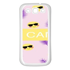 I Can Purple Face Smile Mask Tree Yellow Samsung Galaxy S3 Back Case (white) by Mariart