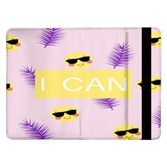I Can Purple Face Smile Mask Tree Yellow Samsung Galaxy Tab Pro 12 2  Flip Case by Mariart
