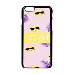 I Can Purple Face Smile Mask Tree Yellow Apple Iphone 6/6s Black Enamel Case by Mariart