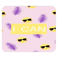 I Can Purple Face Smile Mask Tree Yellow Double Sided Flano Blanket (small)  by Mariart