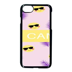 I Can Purple Face Smile Mask Tree Yellow Apple Iphone 7 Seamless Case (black)