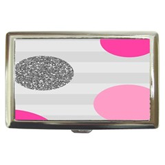 Polkadot Circle Round Line Red Pink Grey Diamond Cigarette Money Cases by Mariart