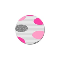 Polkadot Circle Round Line Red Pink Grey Diamond Golf Ball Marker (10 Pack) by Mariart