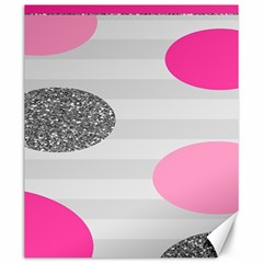 Polkadot Circle Round Line Red Pink Grey Diamond Canvas 20  X 24   by Mariart