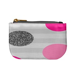 Polkadot Circle Round Line Red Pink Grey Diamond Mini Coin Purses by Mariart