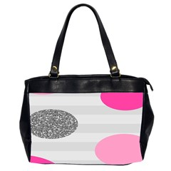 Polkadot Circle Round Line Red Pink Grey Diamond Office Handbags (2 Sides)  by Mariart