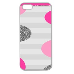 Polkadot Circle Round Line Red Pink Grey Diamond Apple Seamless Iphone 5 Case (clear) by Mariart