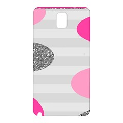 Polkadot Circle Round Line Red Pink Grey Diamond Samsung Galaxy Note 3 N9005 Hardshell Back Case by Mariart