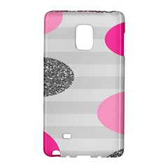 Polkadot Circle Round Line Red Pink Grey Diamond Galaxy Note Edge by Mariart