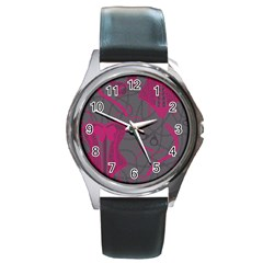 Pink Black Handcuffs Key Iron Love Grey Mask Sexy Round Metal Watch by Mariart