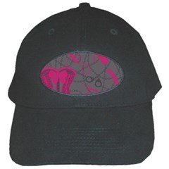 Pink Black Handcuffs Key Iron Love Grey Mask Sexy Black Cap by Mariart
