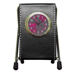 Pink Black Handcuffs Key Iron Love Grey Mask Sexy Pen Holder Desk Clocks by Mariart