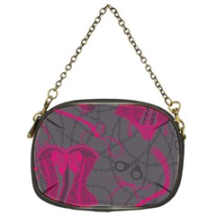 Pink Black Handcuffs Key Iron Love Grey Mask Sexy Chain Purses (one Side)  by Mariart