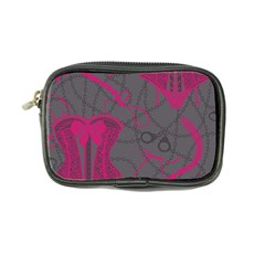 Pink Black Handcuffs Key Iron Love Grey Mask Sexy Coin Purse by Mariart