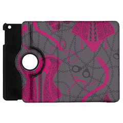 Pink Black Handcuffs Key Iron Love Grey Mask Sexy Apple Ipad Mini Flip 360 Case by Mariart