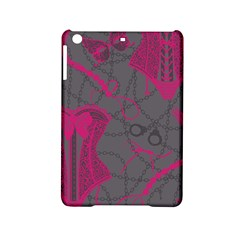 Pink Black Handcuffs Key Iron Love Grey Mask Sexy Ipad Mini 2 Hardshell Cases by Mariart