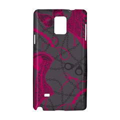 Pink Black Handcuffs Key Iron Love Grey Mask Sexy Samsung Galaxy Note 4 Hardshell Case by Mariart