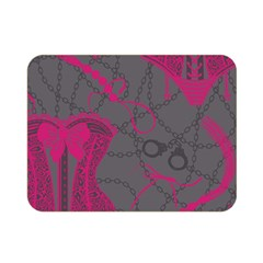 Pink Black Handcuffs Key Iron Love Grey Mask Sexy Double Sided Flano Blanket (mini)  by Mariart