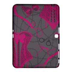 Pink Black Handcuffs Key Iron Love Grey Mask Sexy Samsung Galaxy Tab 4 (10 1 ) Hardshell Case  by Mariart