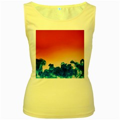 Simulate Weather Fronts Smoke Blue Orange Women s Yellow Tank Top