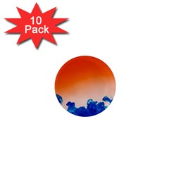 Simulate Weather Fronts Smoke Blue Orange 1  Mini Magnet (10 Pack)  by Mariart