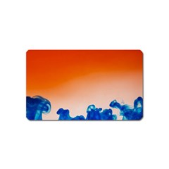 Simulate Weather Fronts Smoke Blue Orange Magnet (name Card) by Mariart