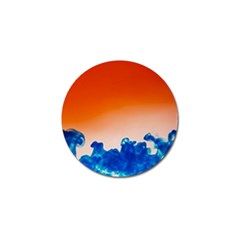 Simulate Weather Fronts Smoke Blue Orange Golf Ball Marker by Mariart