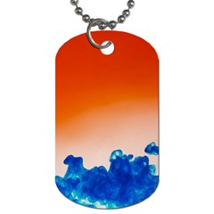 Simulate Weather Fronts Smoke Blue Orange Dog Tag (two Sides)