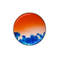 Simulate Weather Fronts Smoke Blue Orange Hat Clip Ball Marker (10 Pack) by Mariart
