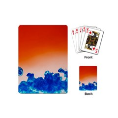 Simulate Weather Fronts Smoke Blue Orange Playing Cards (mini)  by Mariart