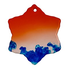 Simulate Weather Fronts Smoke Blue Orange Ornament (snowflake) by Mariart