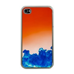 Simulate Weather Fronts Smoke Blue Orange Apple Iphone 4 Case (clear) by Mariart