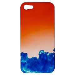Simulate Weather Fronts Smoke Blue Orange Apple Iphone 5 Hardshell Case by Mariart