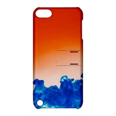 Simulate Weather Fronts Smoke Blue Orange Apple Ipod Touch 5 Hardshell Case With Stand